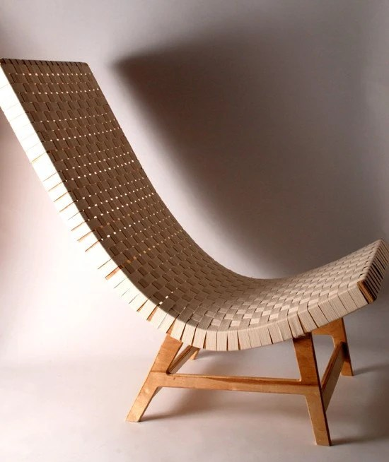 modern birch plywood chair