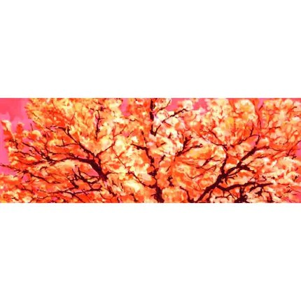 Blossoms  (A Painting) 13 x 36 inches