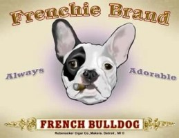 French Bulldog Cigar Label