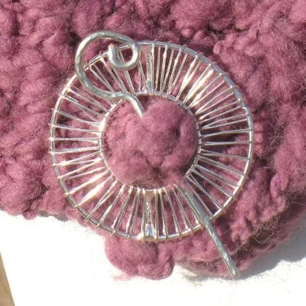 Silver Wheel Shawl Pin