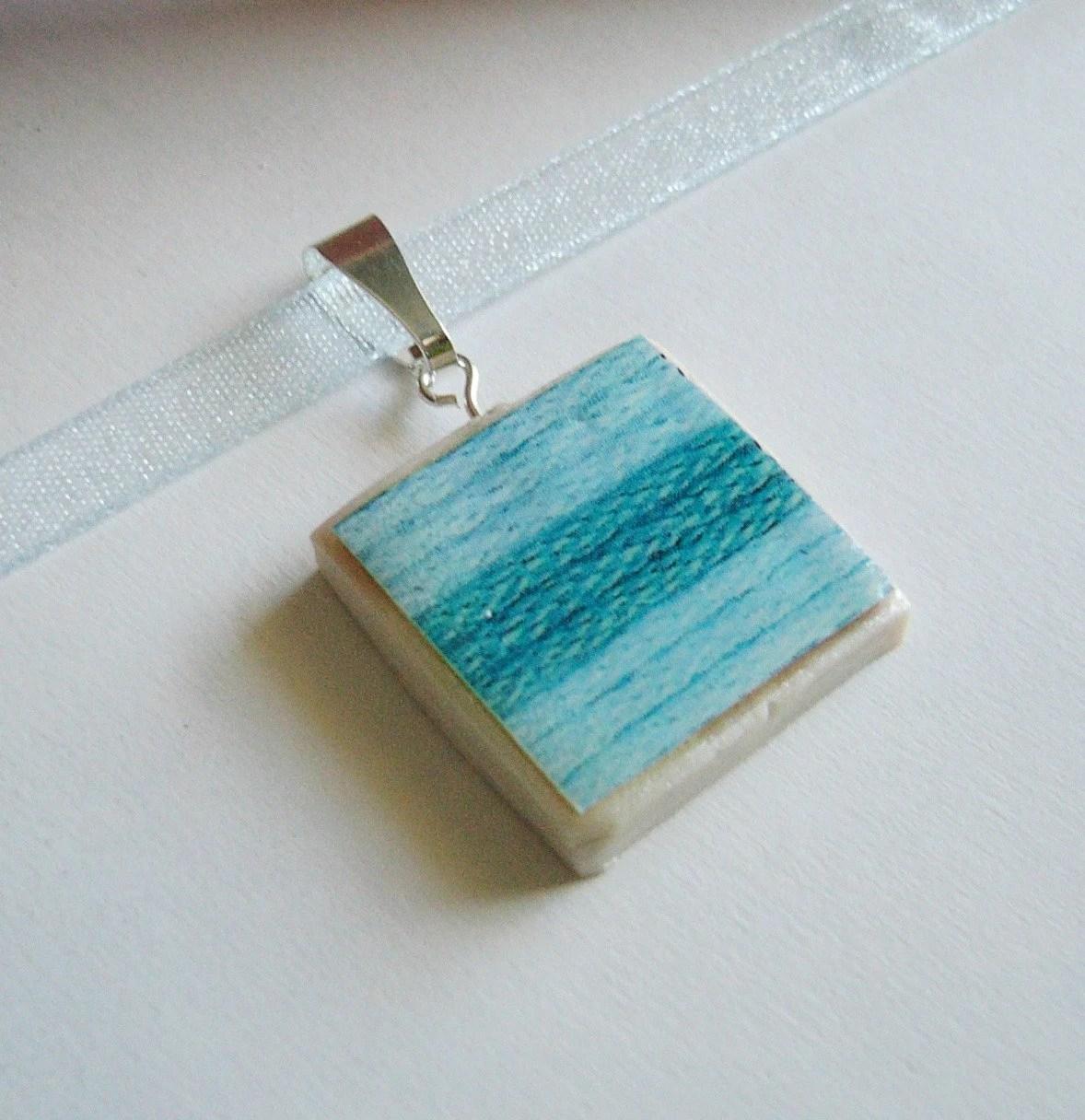 Little Boy Blue Yarn necklace