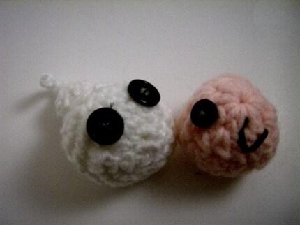 Mr. Spermie and Ms. Ova Pin Cushions