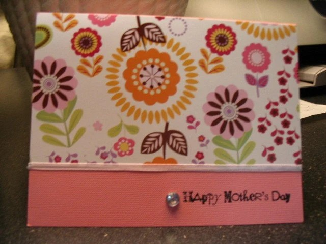 Flower Happy Mothers Day Card