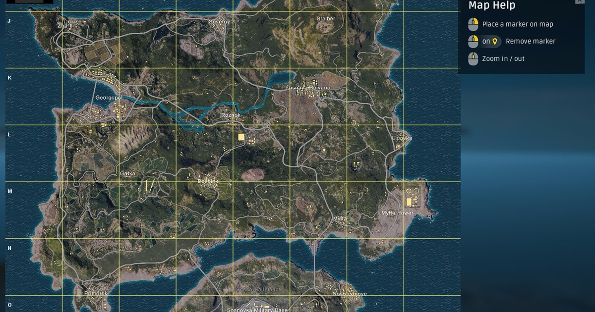 PUBG Erangel map explained     size  best start locations and Erangel     PUBG Erangel map explained     size  best start locations and Erangel map  strategies     Game Breaking News