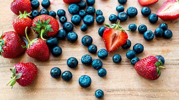 blueberries and strawberries, which are good for people with depression