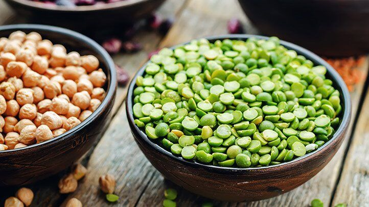 a bowl of beans and peas, which are good for people with depression