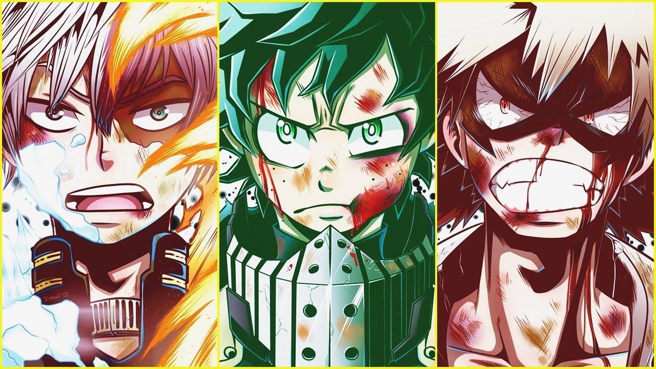 Download wallpapers from anime my hero academia for monitor with resolution 2048x1536 and tags on page: My Hero Academia: Deku, Bakugo e Todoroki sono sulla prima ...