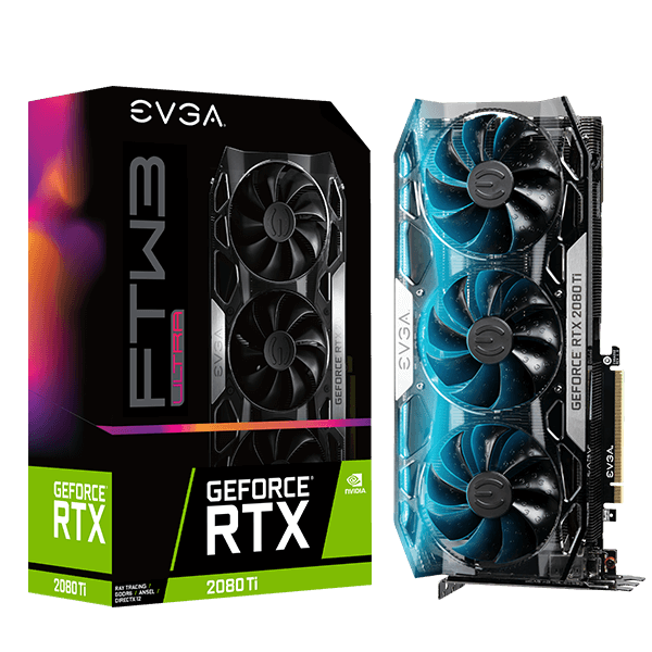 EVGA 11G-P4-2487-KR  GeForce RTX 2080 Ti FTW3 ULTRA GAMING, 11G-P4-2487-KR, 11GB GDDR6, iCX2 & RGB LED