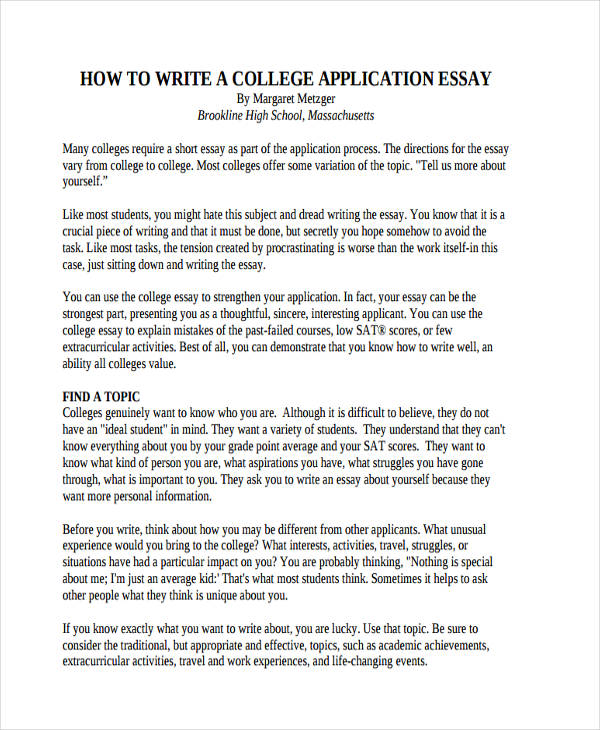 Free 30 College Essay Examples Amp Samples In Pdf Examples