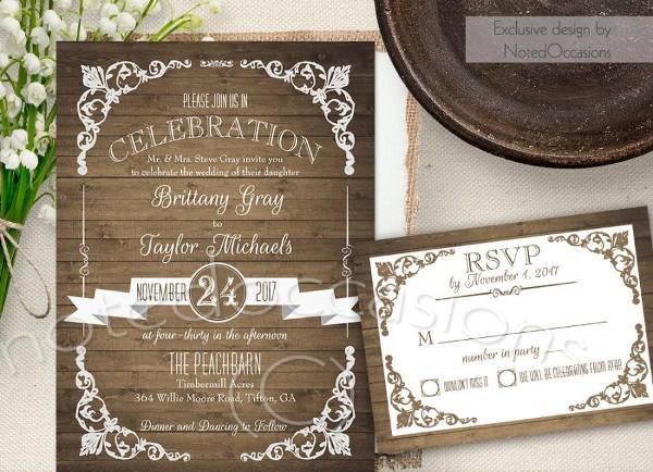 Country Garden Wedding Invitation