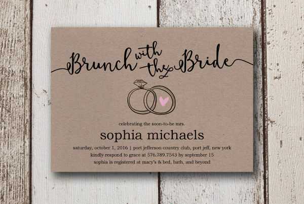Print Yourself Bridal Shower Invitations