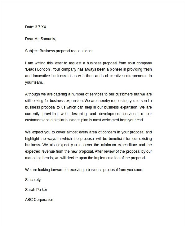 21 Business Proposal Letter Examples ...