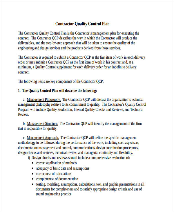 FREE 10+ Control Plan Examples & Samples in PDF | Word ...