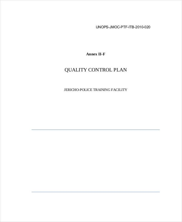 FREE 11+ Quality Plan Examples & Samples in PDF | Word ...