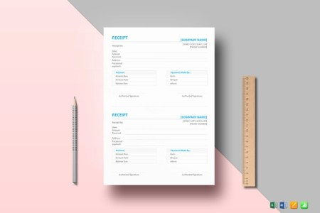 10  Contractor Receipt Examples  Samples Simple Receipt Template