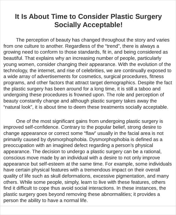 Example informative essay
