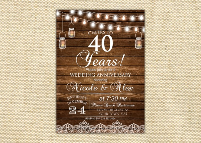 Wedding Anniversary Invitation Designs