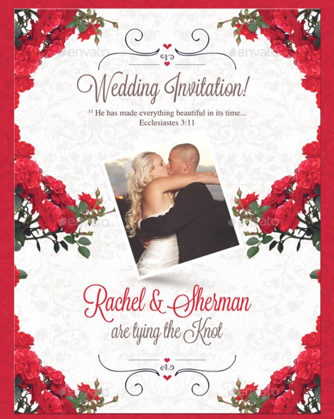 Free 24 Traditional Wedding Invitation