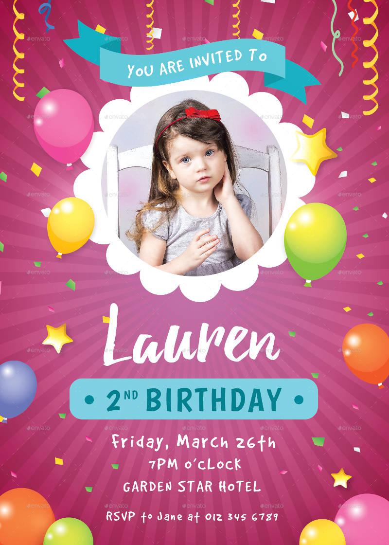 girls birthday invitation designs