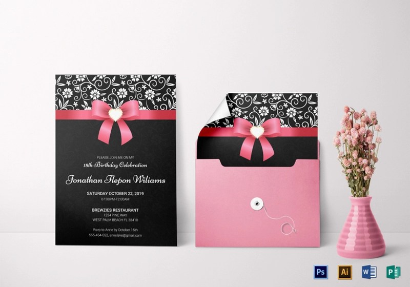 FREE 14 Debut Invitation Designs Amp Examples In PSD AI EPS Vector Examples