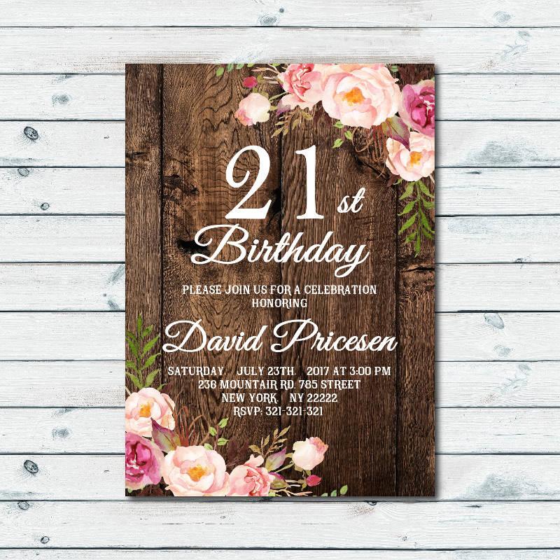 cool 21st birthday invitation designs