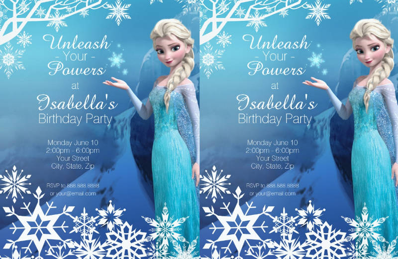 frozen birthday invitation designs