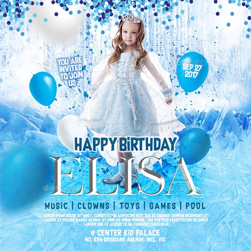 frozen birthday invitation designs