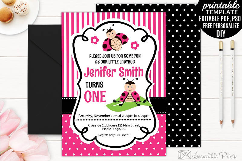 girls birthday invitation designs