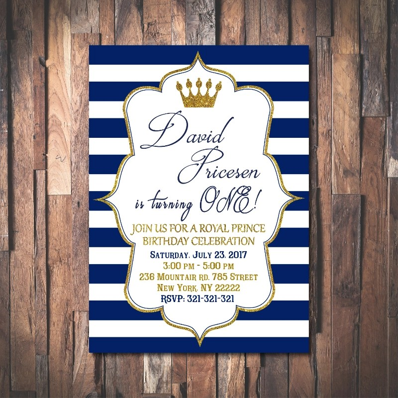 prince birthday invitation designs