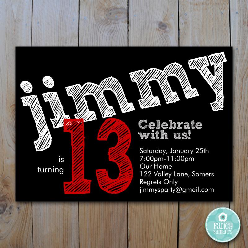 teen birthday invitation designs