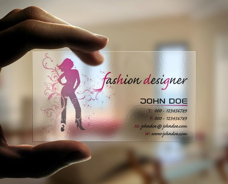 fashion industry business cards - Fashion Designer Business Card