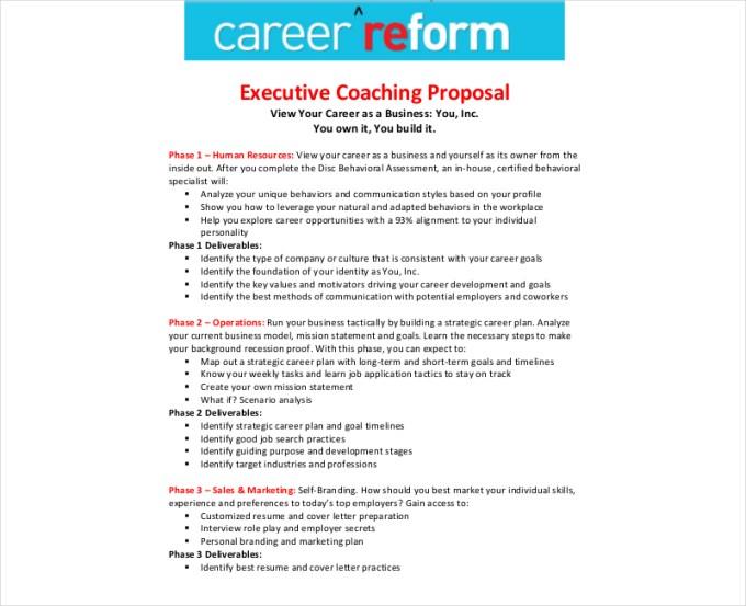 Executive Coaching Proposal Template | Save Template