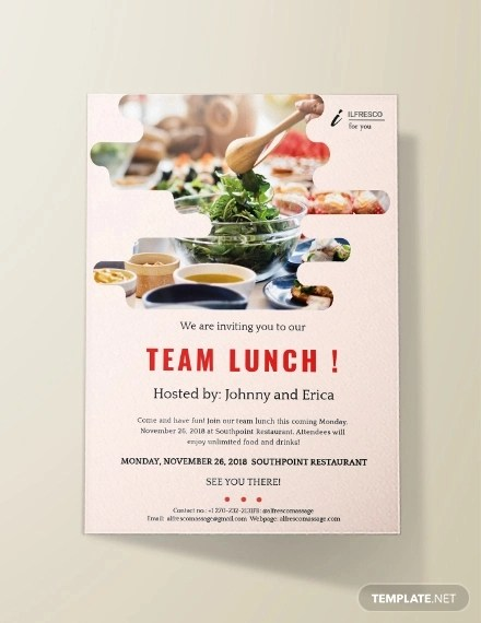 19 team lunch invitation designs and