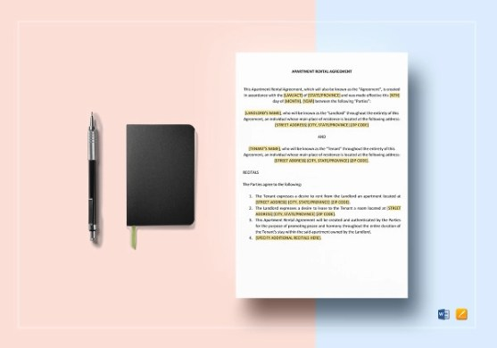 15  Rental Agreement Examples   PDF  DOC Apartment Rental Agreement Template