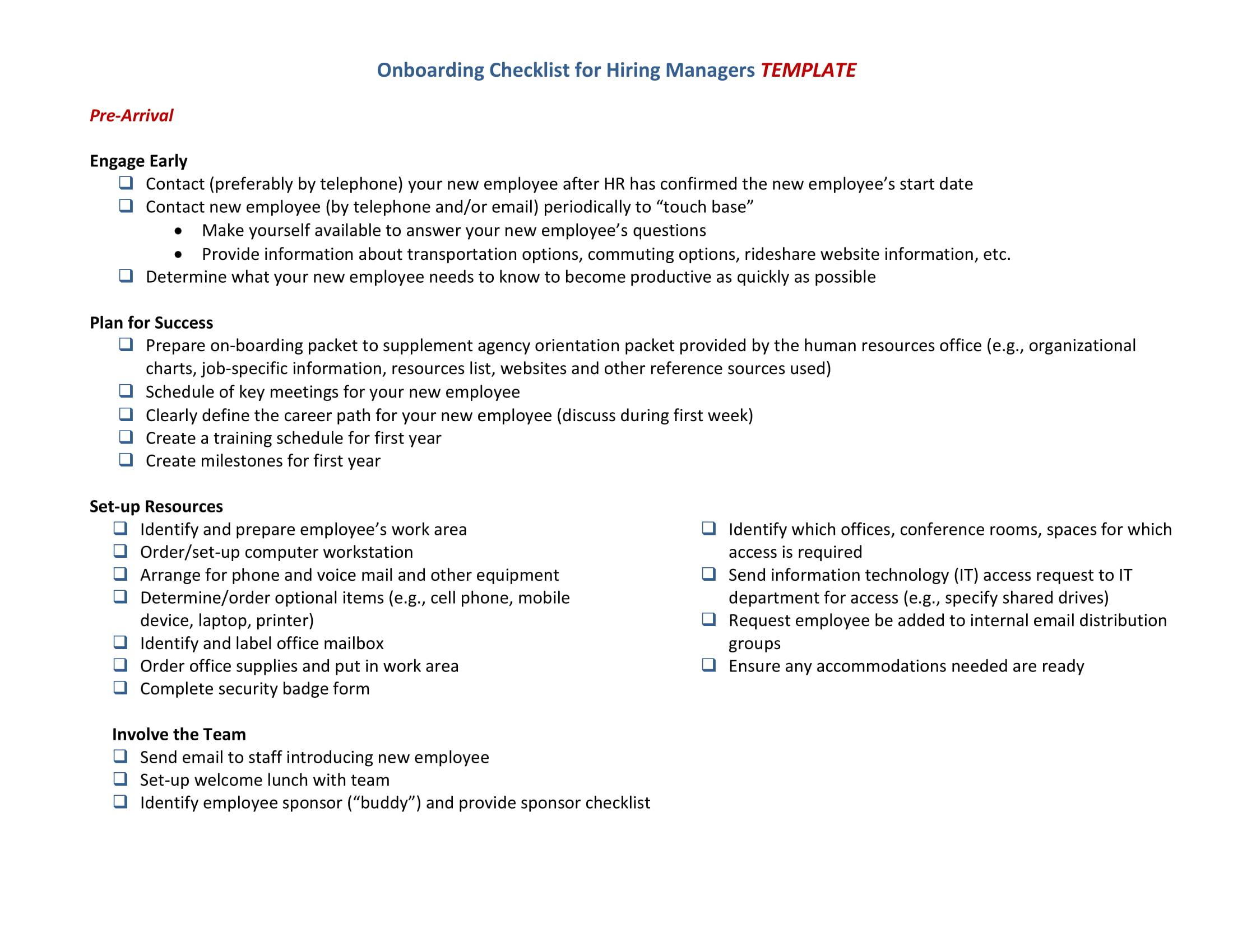 19 HR Checklist Examples PDF Examples