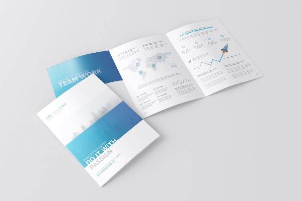 Download a4 3 fold brochure mockup