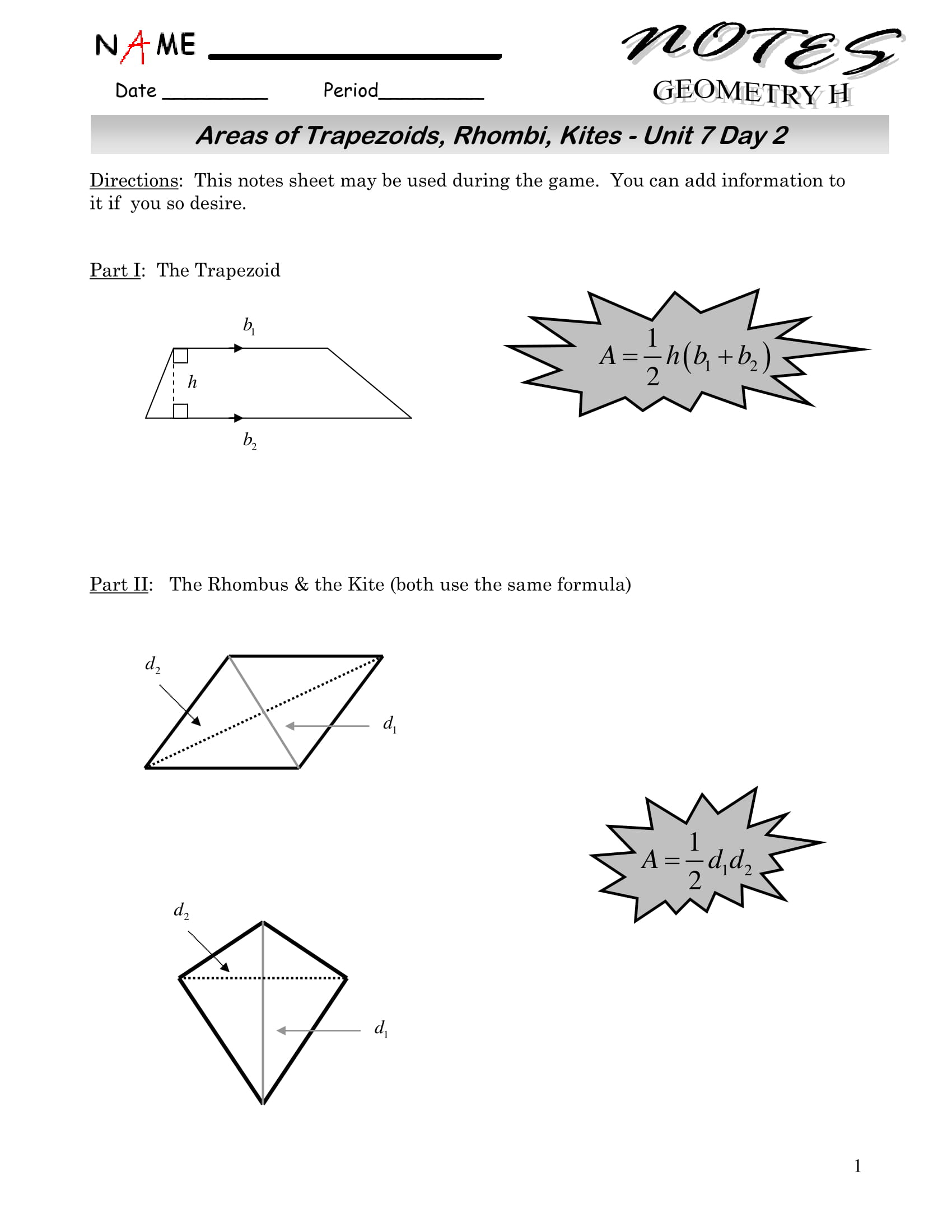 9 Geometry Worksheet Examples For Students