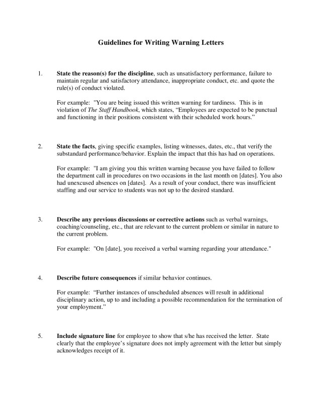 11 Employee Warning Letter Examples