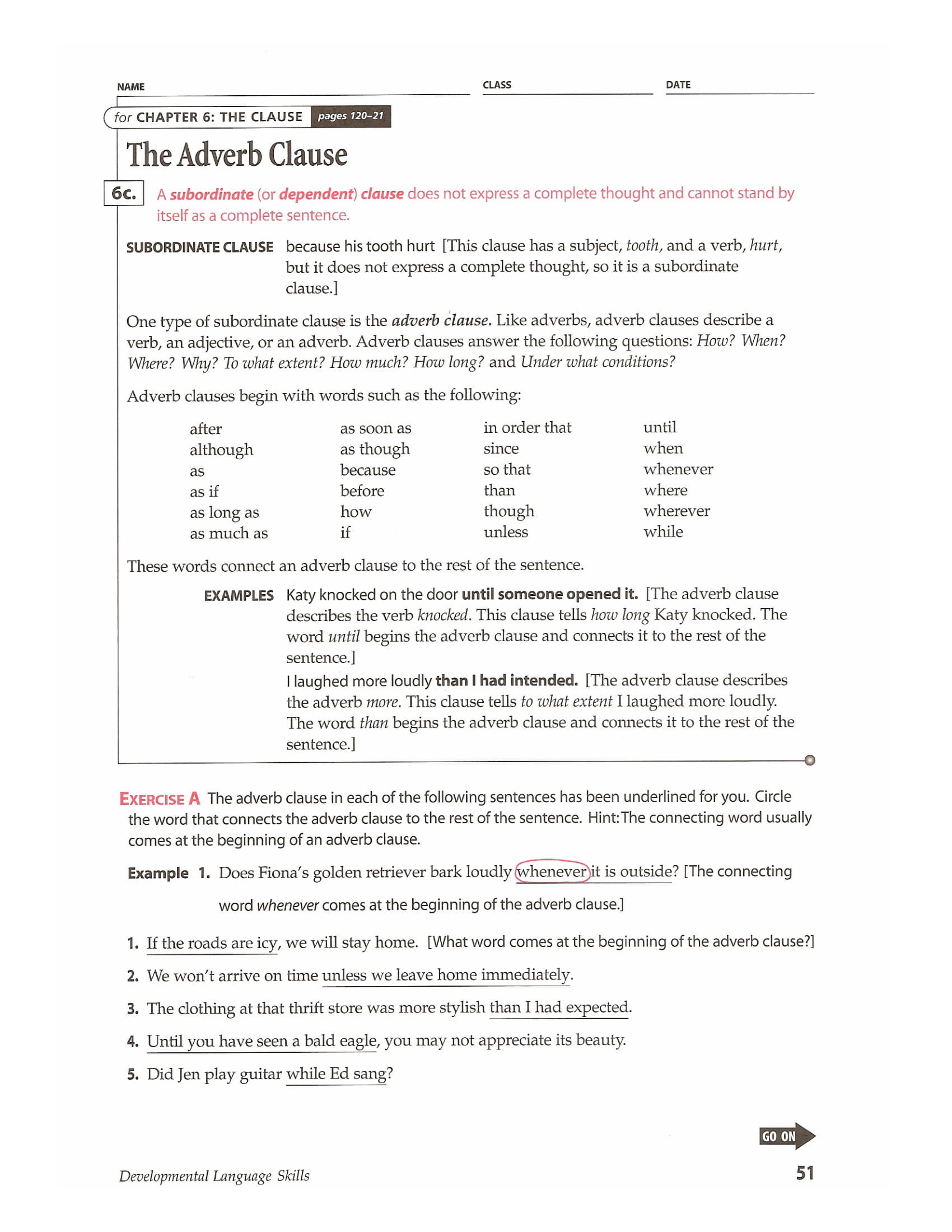 Worksheets Adverb Clause Worksheet Cheatslist Free Worksheets For Kids Amp Printable
