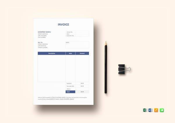 15  Basic Invoice Examples   PDF  DOC Invoice Format Template