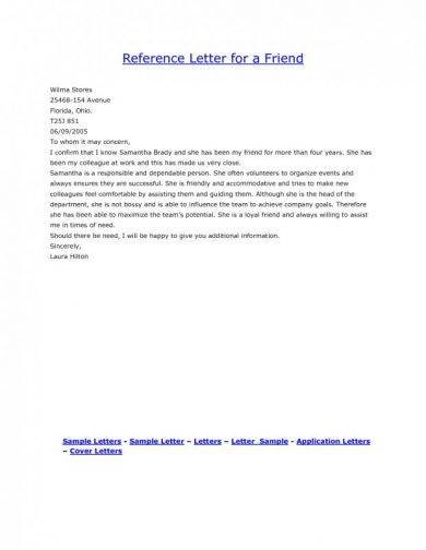 9 Personal Reference Letter Examples