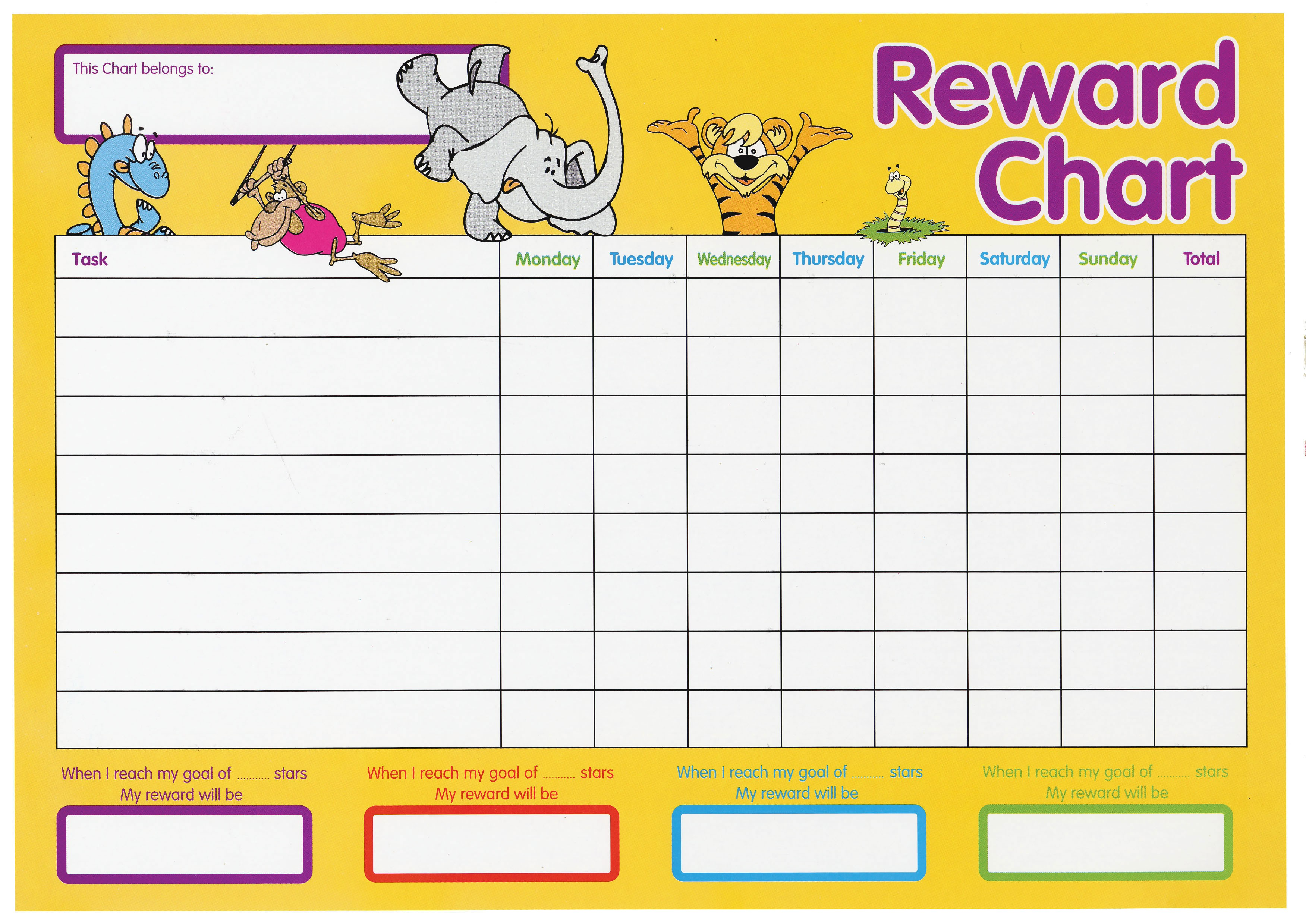 11 Reward Charts For Kids Examples