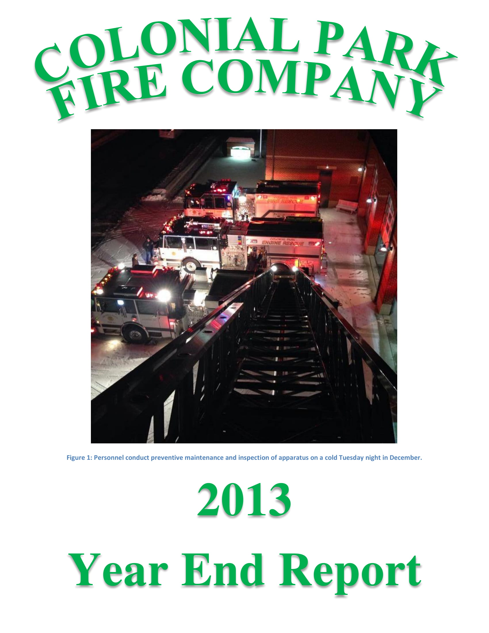 Fire Company Year End Report Example