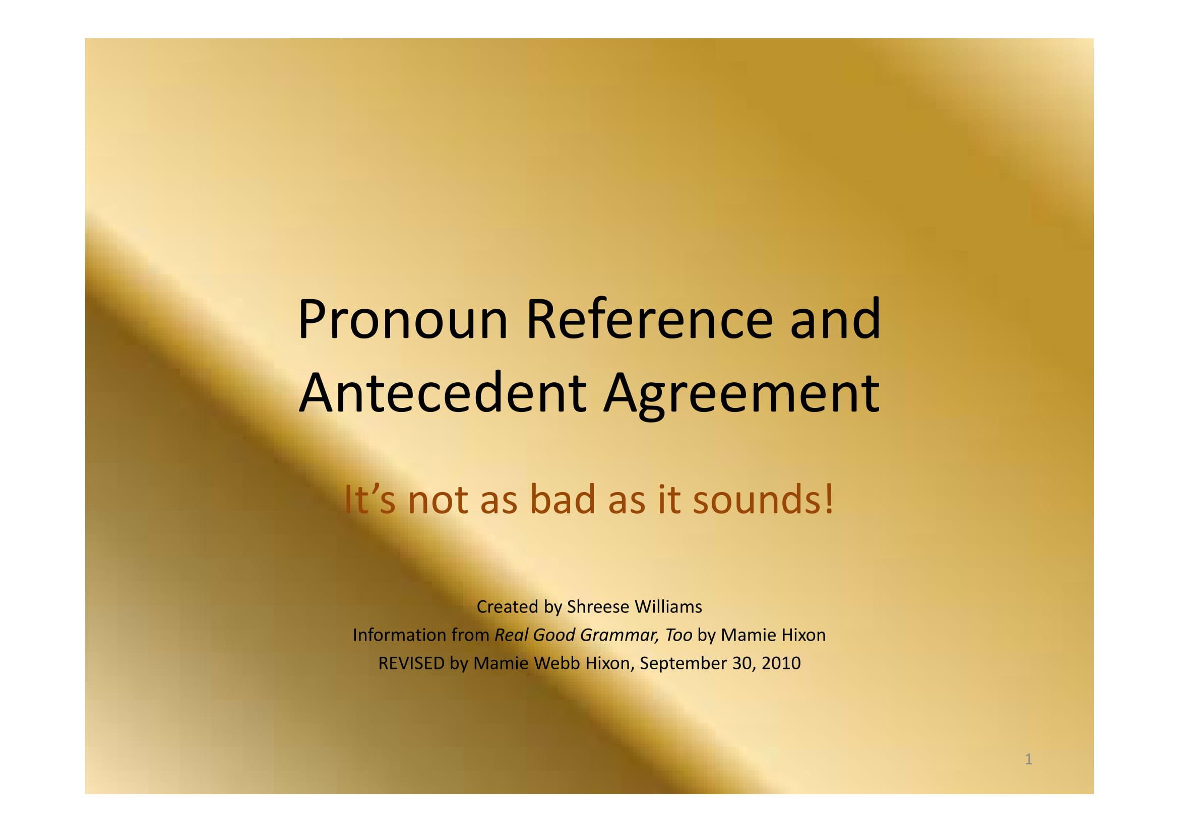 15 Antecedent Examples