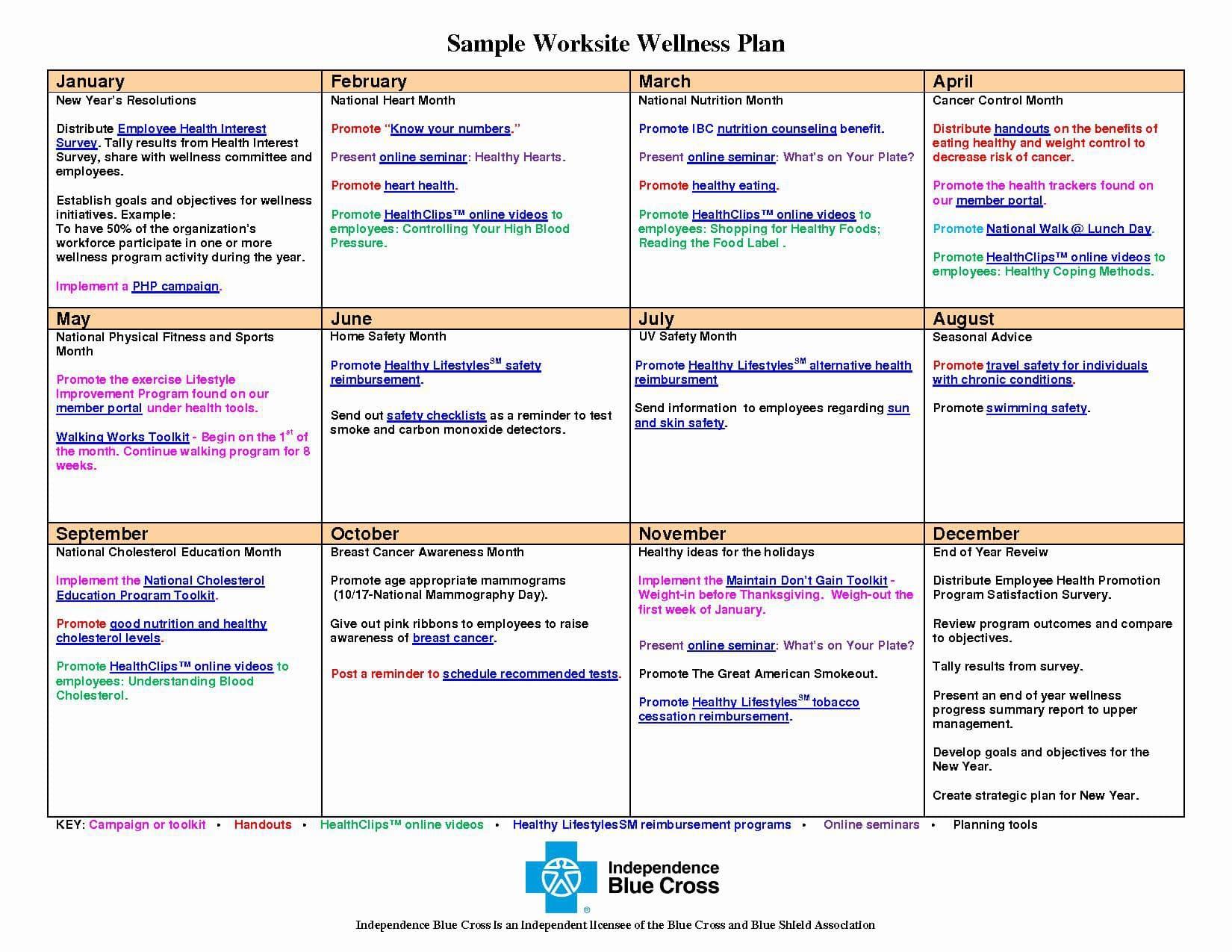 Wellness Recovery Action Plan Calendar Example