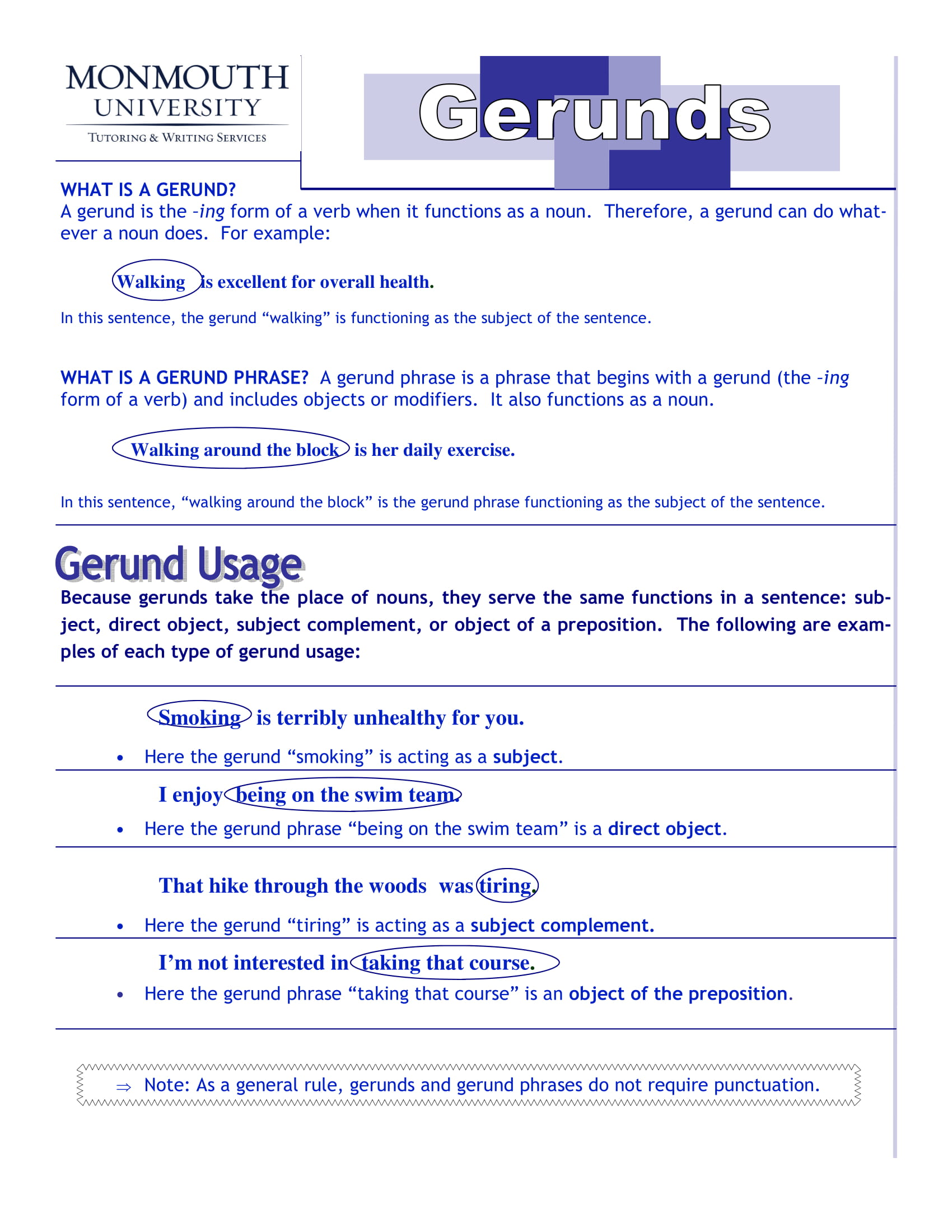 Gerund As Object Of Preposition Meaning