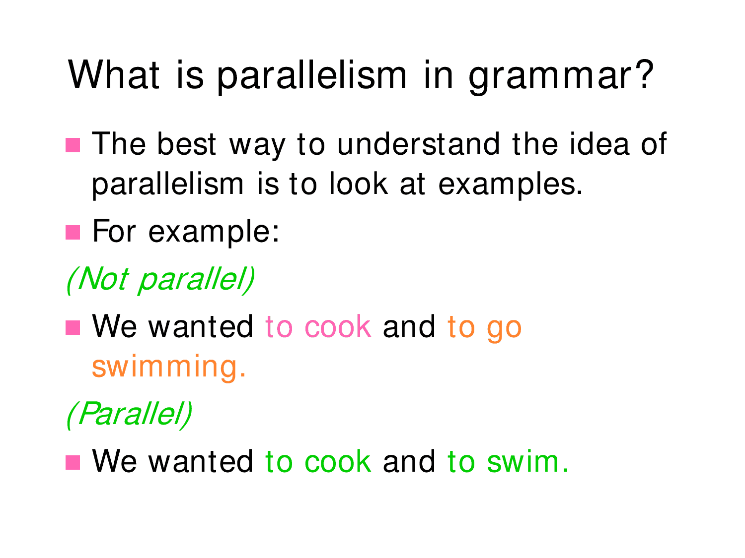 23 Parallelism Examples
