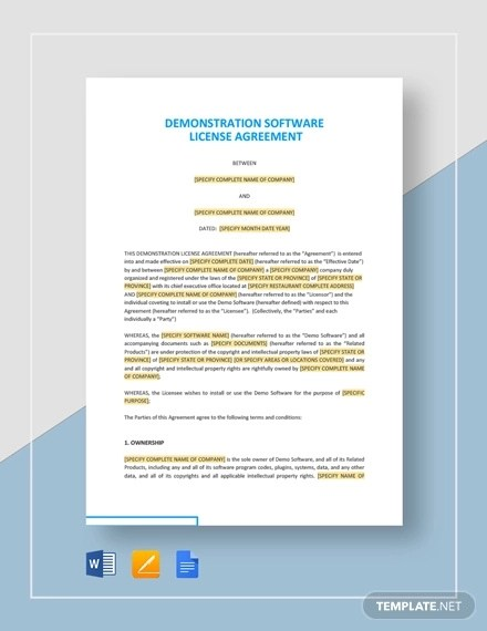 Sample software license agreement (review copy) this agreement is entered into as of xxxx (effective date) by and between nielsen engineering & research, inc. 33 License Agreement Examples Pdf Docs Examples