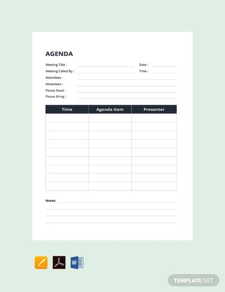Use xtensio's meeting agenda template to define more impactful team meetings. Free 41 Agenda Examples In Pdf Examples