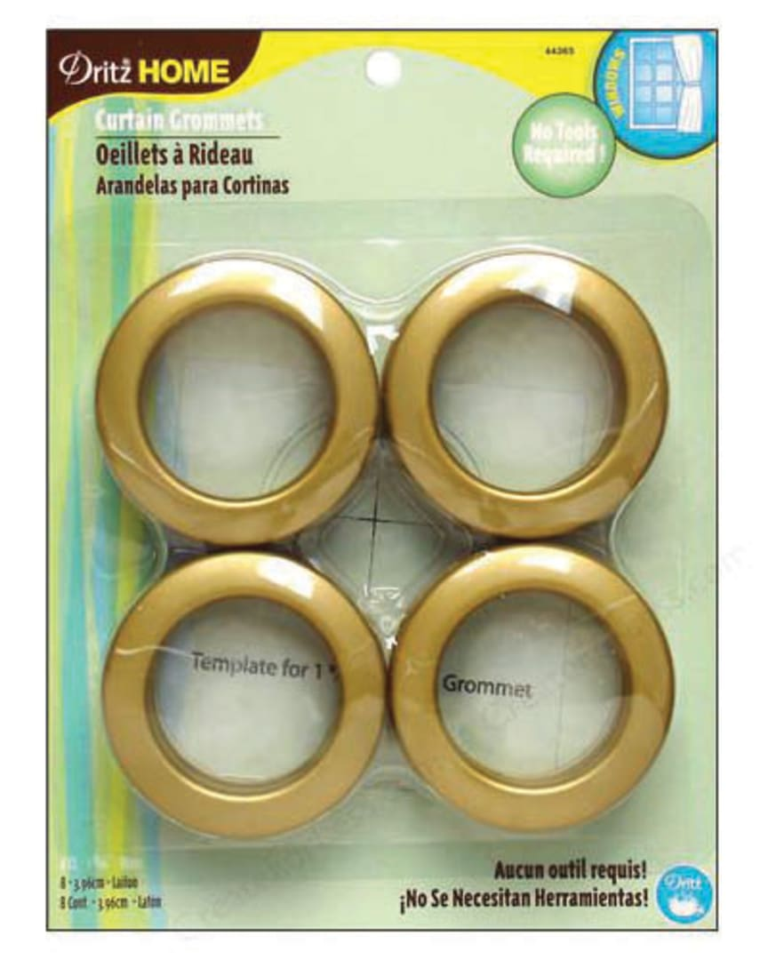 curtain grommets 8 pack brass 1 9 16